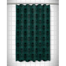 Art Deco Aqua & Black Shower Curtain
