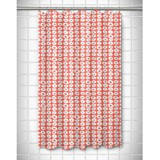 Doughnuts Coral Shower Curtain