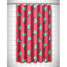 Umbrellas & Beach Balls Shower Curtain