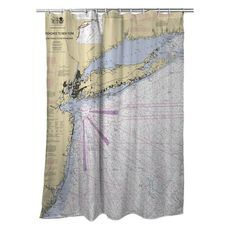 Approaches to NY, Long Island, NY Nautical Chart Shower Curtain