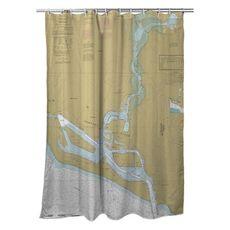 Newport Bay, CA Nautical Chart Shower Curtain