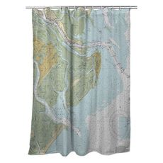 Tybee Island, GA Nautical Chart Shower Curtain