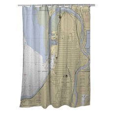 Everett, WA Nautical Chart Shower Curtain