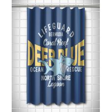 Deep Blue Shark Shower Curtain
