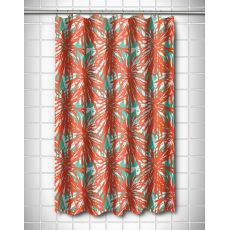 Palm Springs Coral Shower Curtain