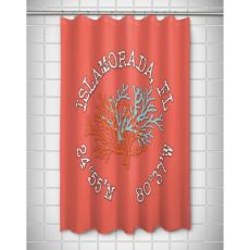 Custom Coral Duo Coordinates Shower Curtain - Coral