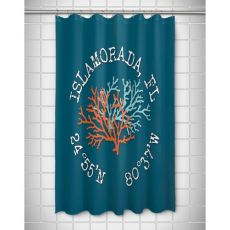 Custom Coral Duo Coordinates Shower Curtain - Turquoise