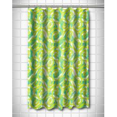 Swirls Lime Shower Curtain