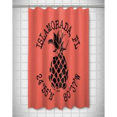Custom Pineapple Coordinates Shower Curtain - Coral