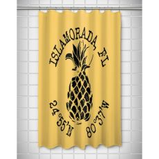 Custom Pineapple Coordinates Shower Curtain - Yellow