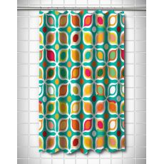 Vintage Geometric Shower Curtain