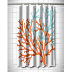 Coral Duo Shower Curtain