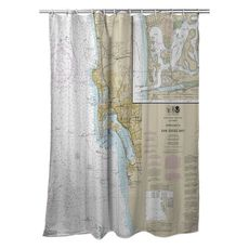 Approaches to San Diego Bay, La Jolla, Coronada, CA Nautical Chart Shower Curtain
