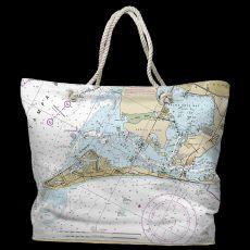 FL: Anna Maria Island, FL Water-Repellent Nautical Chart Tote Bag