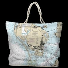 FL: St. Petersburg, FL Water-Repellent Nautical Chart Bag