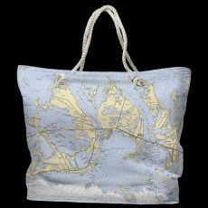 FL: Sugarloaf, Cudjoe & Summerland Keys, FL Water-Repellent Nautical Chart Tote Bag