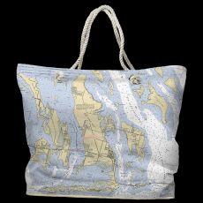 FL: Ramrod, Torch & Big Pine Key, FL Water-Repellent Nautical Chart Tote Bag