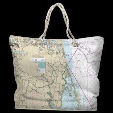 VA: Virginia Beach, VA Water-Repellent Nautical Chart Bag