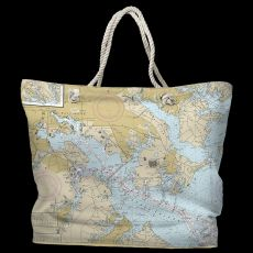 MD: Baltimore, MD Water-Repellent Nautical Chart Bag