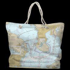 FL: Tampa Bay, FL Water-Repellent Nautical Chart Bag