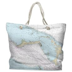 BAHAMAS- Grand Bahama, Abaco, Bahamas Water-Repellent Nautical Chart Tote Bag