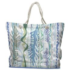 Seaweed Drift Tote Bag with Nautical Rope Handles