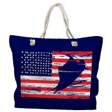 Sailfish Americana Nautical Tote Bag with Nautical Rope Handles