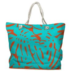 Rain Forest Tote Bag with Nautical Rope Handles