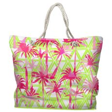 Palm Resort Tote Bag with Nautical Rope Handles