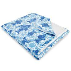 Blue Fish Bubbles Fleece Throw Blanket