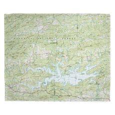 Lake Ouachita, AR (1982) Topo Map Fleece Throw Blanket