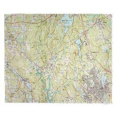 Upton, Milford, MA (1982) Topo Map Fleece Throw Blanket