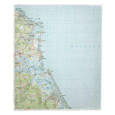 Scituate, MA (1984) Topo Map Fleece Throw Blanket