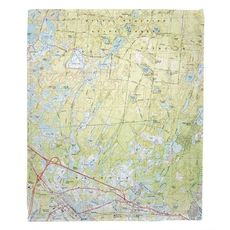 Carver, Plymouth, Wareham, MA (1972) Topo Map Fleece Throw Blanket