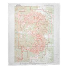 Cedar Breaks National Monument, UT (1936) Topo Map Fleece Throw Blanket