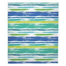 Coastal Lines Fleece Throw Blanket