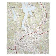 Danbury, CT Topo Map Fleece Throw Blanket