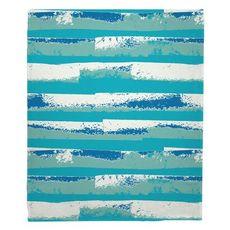 Ocean Currents Fleece Throw Blanket