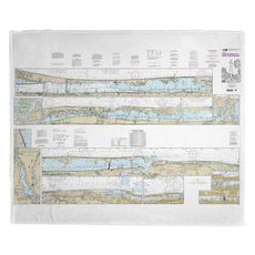 Palm Shores to West Palm Beach, FL Nautical Chart Fleece Throw Blanket