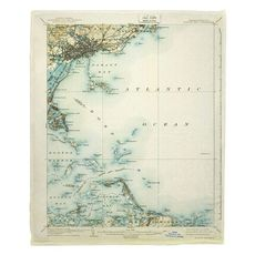 Boston Bay, MA (1903) Map Fleece Throw Blanket