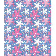 Butterflies & Flowers Fleece Throw Blanket