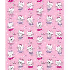 Kitten Dance Fleece Throw Blanket