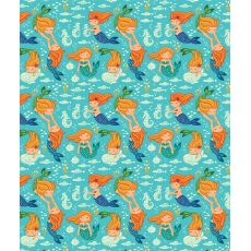 Playful Mermaids Fleece Throw Blanket