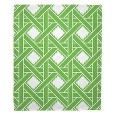 Key Largo - Passport Green Fleece Throw Blanket