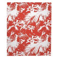 Walker's Cay - Island Getaway Red Fleece Throw Blanket
