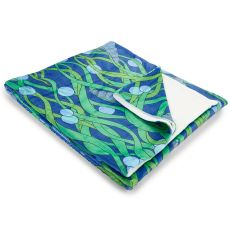 Green Seaweed Fleece Throw Blanket