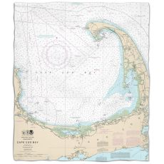 Ma: Cape Cod, Ma Nautical Chart Fleece Throw Blanket