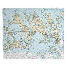 Sugarloaf, Cudjoe & Summerland Keys, FL Nautical Chart Fleece Throw Blanket