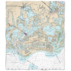 Fl: Marco Island, Fl Nautical Chart Fleece Throw Blanket