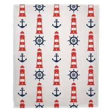 Captains Key - Lighthouse Fleece Throw Blanket